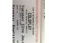 Coldplay tickets standing/ seating