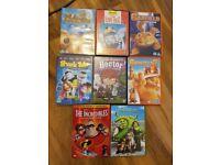 Job lot of 8 DVD's, Graded 'U'.