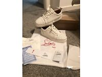 Christian Louboutin size 5.5 white stud trainers **can post**