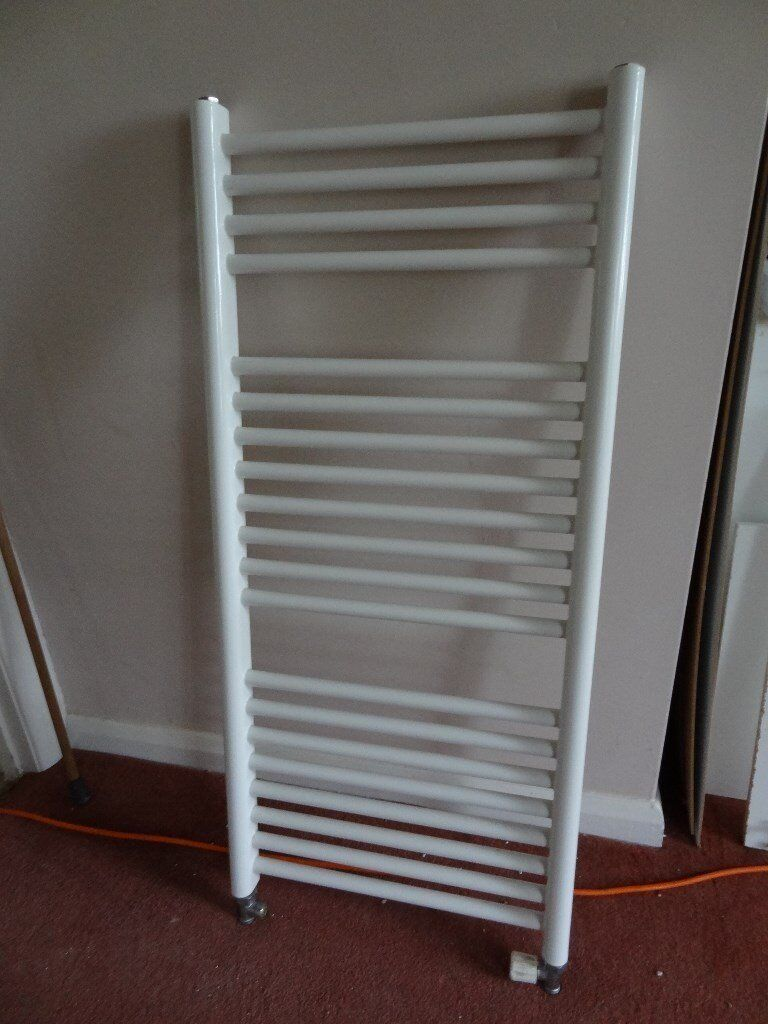 Flat Heated Central Heating Towel Rail Radiator for Bathroom - Size: H98cm x W45cm