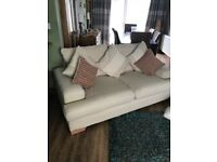 Lovely Beige Hessian Sofa. Excellent Overall Condition. Can Deliver.
