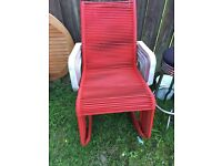 6 unusual garden chairs red in colour