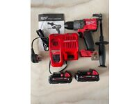 """Milwaukee M18FPD2-0 1/2"""" Fuel Percussion Drill, 2 x 2Ah Batteries & Charger"""