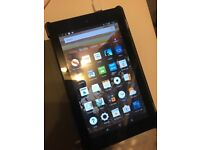 Amazon Fire 7th gen - basically brand new with case and charger!