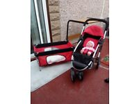 Dolls Silver cross buggy & cot