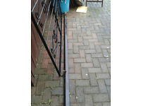 "iron gate and post 6ft h x 5ft3"" w"