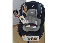 Joie Stages Car Seat - New & Boxed - Caviar Colour - Group 0+/1/,2 - For Upto 7 Years