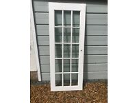 FREE hardwood glazed internal door, and handles and hinges