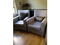IKEA JENNYLUND ARMCHAIRS WITH EXTRA COVERS