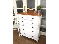 SOLID WOOD CHEST OF DRAWERS FREE DELIVERY LDN🇬🇧freshly REFURBISHED