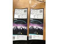 2 stone roses tickets for Wembley on Saturday 17th June 85 quid fave value will let both go for 150