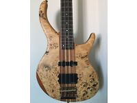 Vintage V1004DX Birdseye Maple Active electric bass guitar
