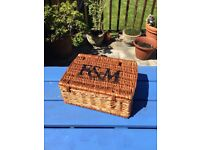 Authentic Fortnum And Mason Hamper Basket - Very Good Condition