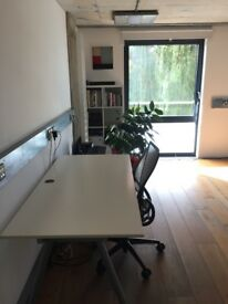 Large desk space in a creative Haggerston office