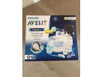 Philips Avent baby bottle feeding set.