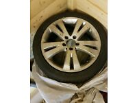 "Mercedes 17"" Alloy wheels with 4 Brand New Winter Tyres"