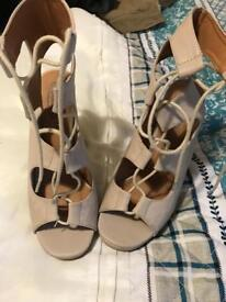 Size 6 lace up heels