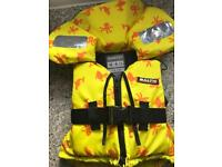 Child's Life Jacket 5 to 7yrs 2.5stn New.