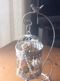 10 birdcage wedding centre pieces plus 2 large birdcages
