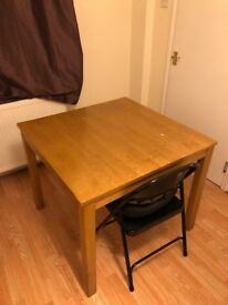 Square Wood Desk Table