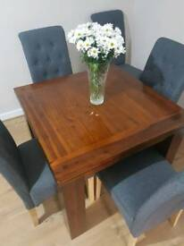 Extending Rustic Acacia wood table
