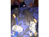 Snorkel, masks & flippers
