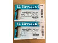 2 x Ed Sheeran O2 tickets for this Wednesday!