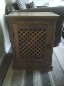 Heavy wooden tv cabinet