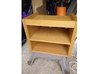 Oak veneer Hall low level unit/side/Printer table