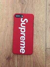 SUPREME iPHONE 6,7, 7-PLUS CASES RED & BLACK