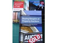 Job Lot bundle. Three property books. Auctions. Letting. Investment. Property market.