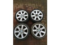 """5x120 17""""x8j alloy wheels with tyres"""