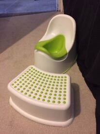 barbed wire toilet seat. IKEA chair potty and matching step stool  lime green white novelty toilet seat barbed wire in Brighton East Sussex Gumtree