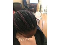 betty Afro Caribbean and Caucasian hair stylist for braids, box braids, weave, cornrows, wigs
