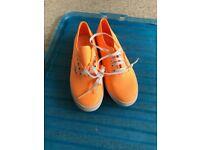 Orange Brand new vans size 5