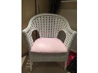 White wicker chair/ nursing chair