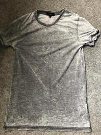 River island burnout tshirt grey xxs