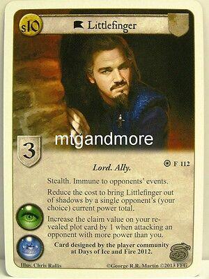 A Game of Thrones LCG - 1x Littlefinger  #112 - A Hidden Agenda