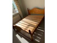 King size bed frame (sold wood).