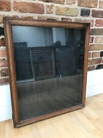 Antique wooden noticeboard/display board