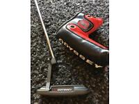 Rare Odyssey Toe Up Putter with Flatso 1.0 Super Stroke Grip