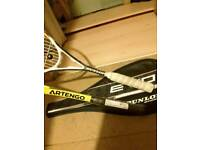 2 tennis racket squash one new and one used in very good condition
