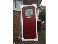 ROCKDOOR - Composite Front Door - RED - 960 x 2060
