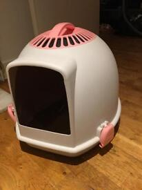 Igloo cat kitten litter tray pink less than 6 months old