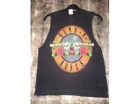 Women's Size 8 to 10 Guns N Roses Rock n Roll T-shirt Vest Top