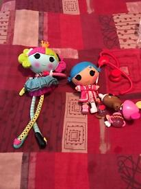 Lalaloopsy dolls and accessories