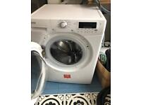 HOOVER ONE TOUCH DYN8144dix 8kg large drum 1400 spin washing machine- white