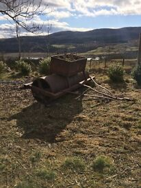 Old farm machinery perfect for garden decortation