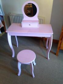 Pink Dressing Table & Stool £40