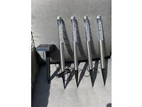 Garden solar light spike kit (stainless steel)